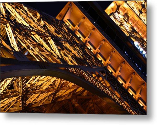 Paris Las Vegas Eiffel Tower Metal Print