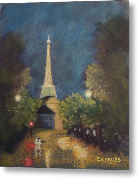Paris Lights Metal Print