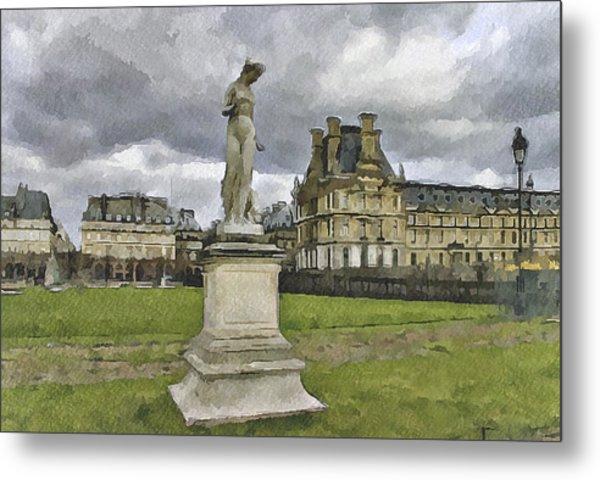 Paris Louvre 2 Metal Print by Yury Malkov