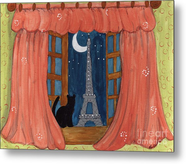 Paris Moonlight Metal Print