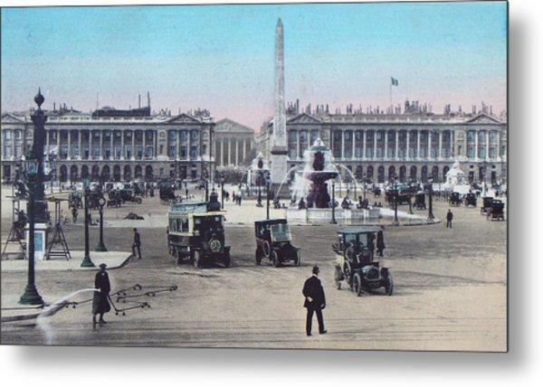 Paris Place De La Concorde 1910 Metal Print