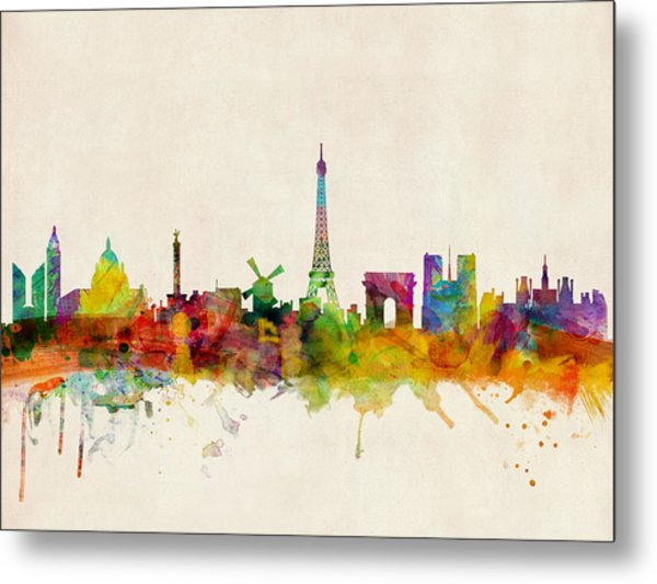 Paris Skyline Metal Print