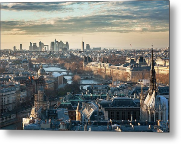 Paris Skyline View From Notre-dame Metal Print by © Philippe Lejeanvre