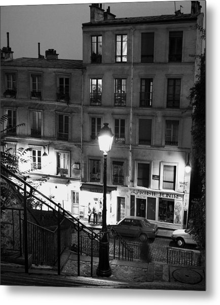 Paris-steps-montmartre Metal Print