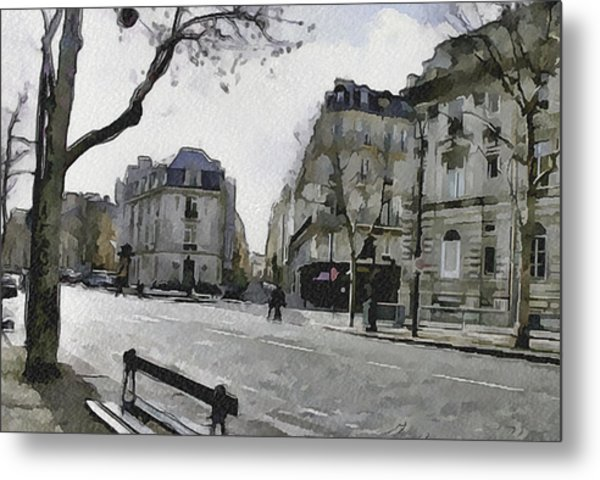 Paris Streets 1 Metal Print by Yury Malkov