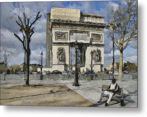 Paris Streets 2 Metal Print by Yury Malkov