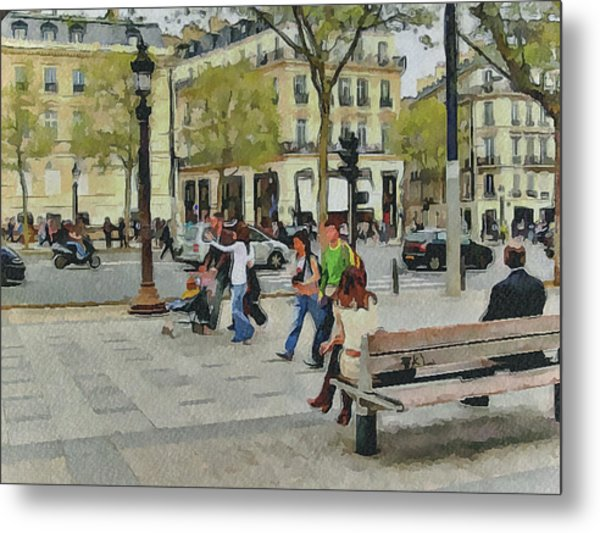 Paris Streets 4 Metal Print by Yury Malkov