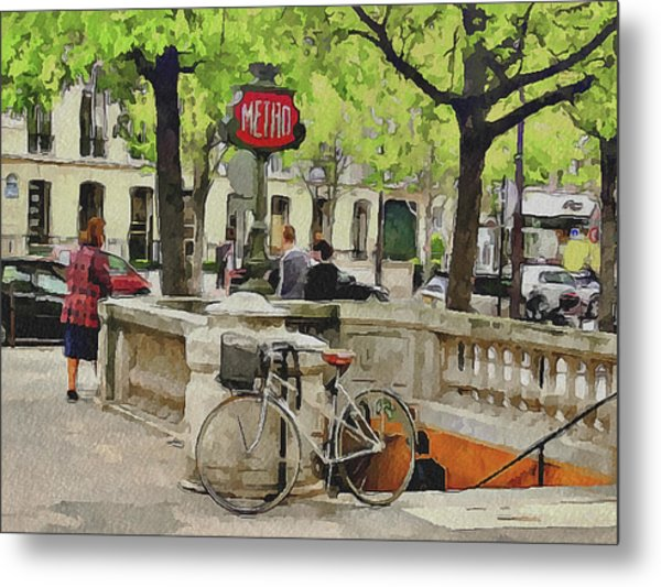 Paris Streets 5 Metal Print by Yury Malkov