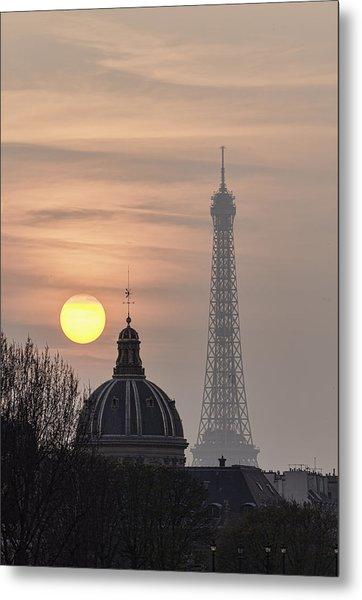 Paris Sunset I Metal Print