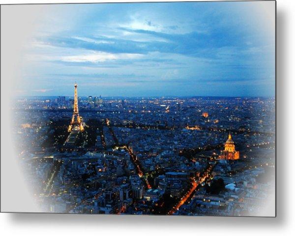 Paris View From Tour Montparnasse Metal Print by Jacqueline M Lewis