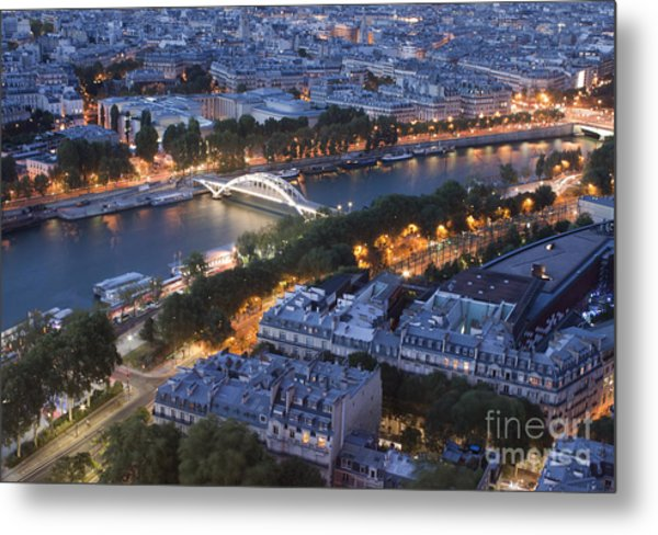 Paris View Metal Print