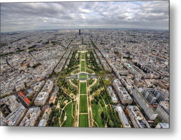Paris Wide View Metal Print by Ioan Panaite
