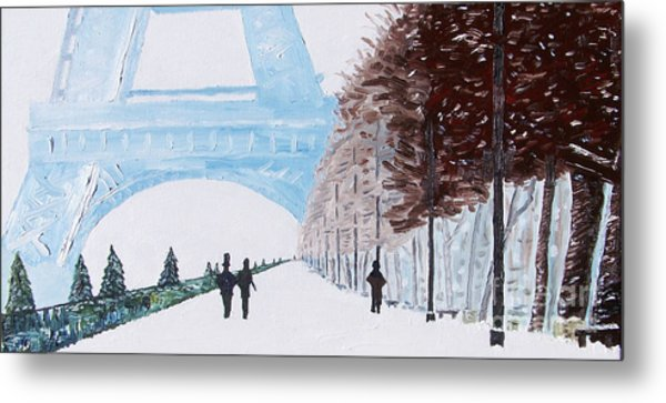 Paris Wintertime Metal Print by Kevin Croitz