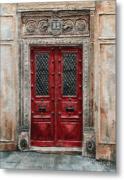 Parisian Door No.82 Metal Print