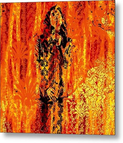 Parisian Fireplace Metal Print