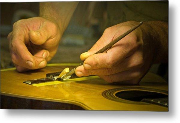 Parisian Luthier At Work Metal Print by Kent Sorensen