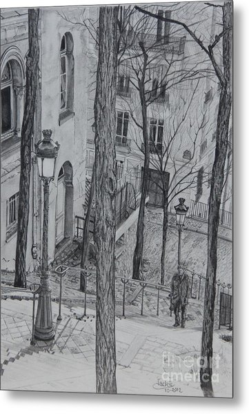 Parisienne Walkways Metal Print