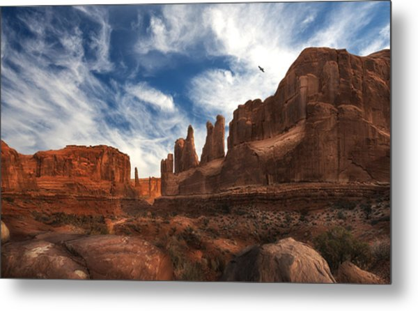 Park Ave Overlook At Arches National Park Metal Print