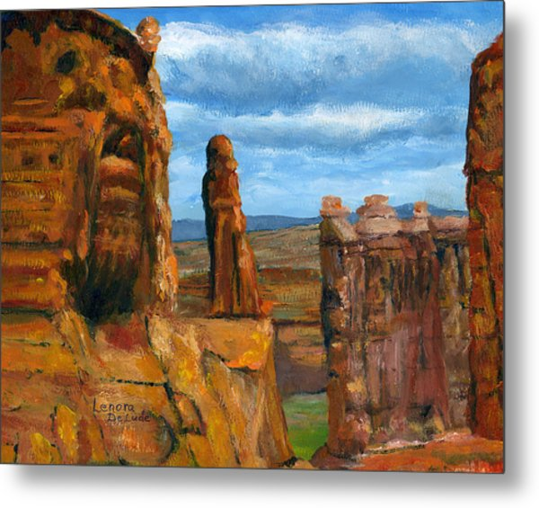 Park Avenue Arches National Park Metal Print