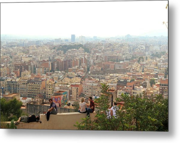 Park Guell Barcelona Metal Print by Jon Cotroneo