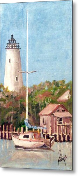 Parked By Ocracoke Metal Print