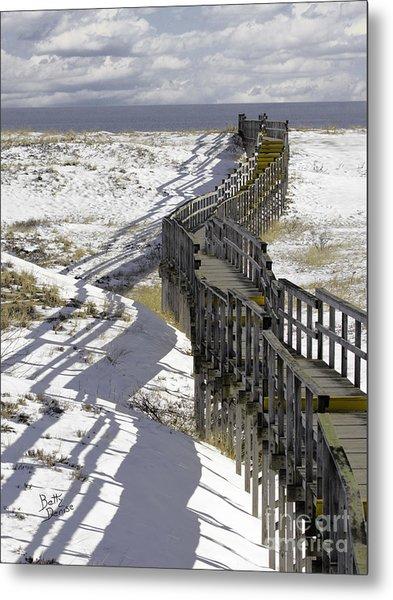 Parker River National Wildlife Refuge Boardwalk Plum Island Metal Print