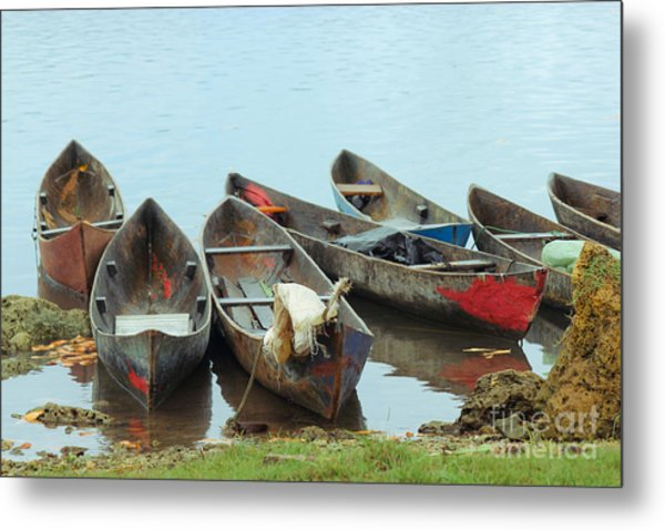 Parking Boats Metal Print