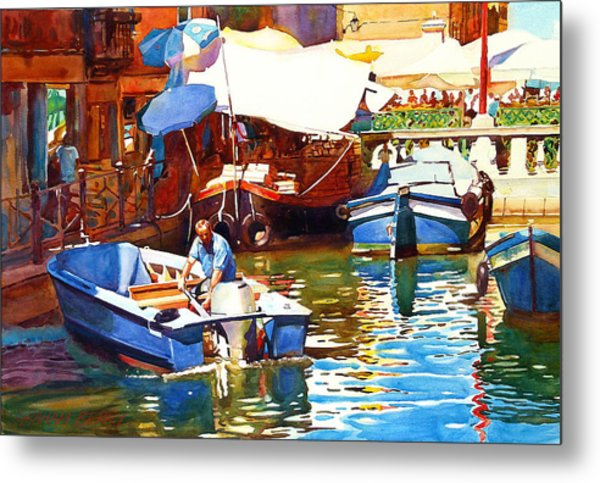 Parking In Venice Metal Print by Graham Berry