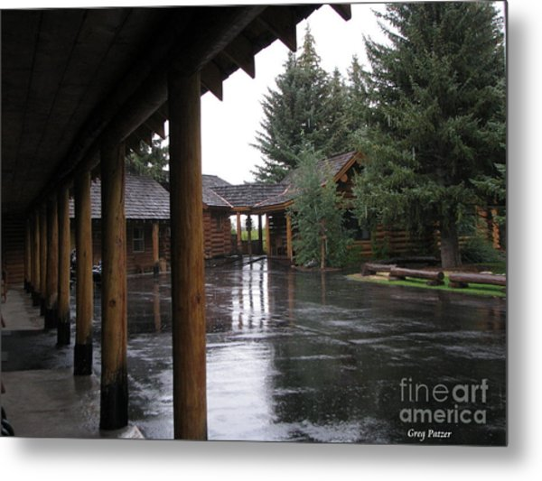 Parking Lot Metal Print by Greg Patzer