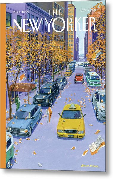Parking Tickets Falling Off Trees Similar Leaves Metal Print