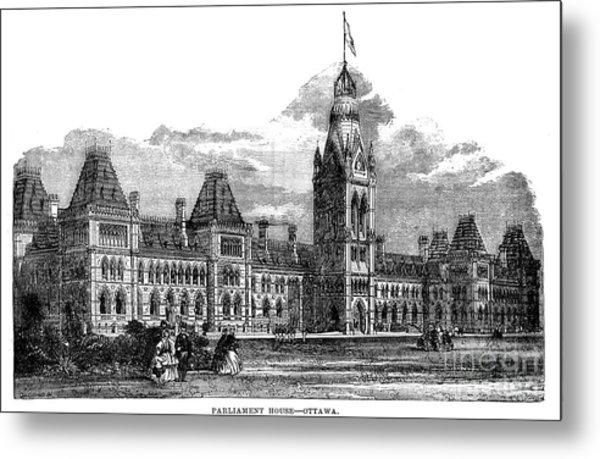 Parliament Building - Ottawa - 1878 Metal Print