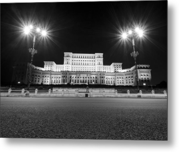 Parliament Building Metal Print by Ioan Panaite