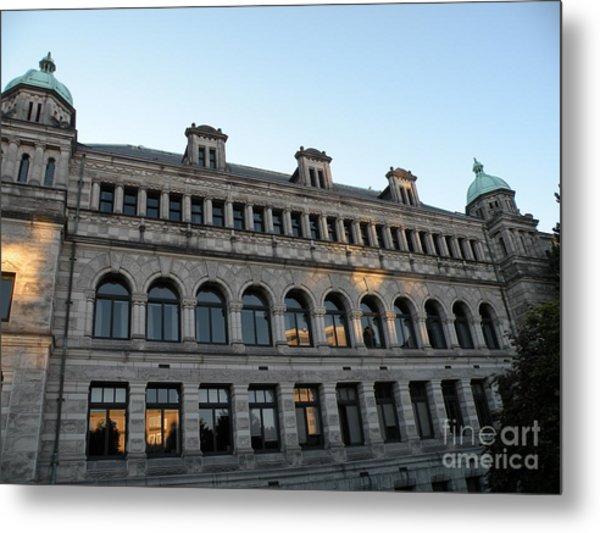 Parliament Buildings Metal Print by Val Carosella