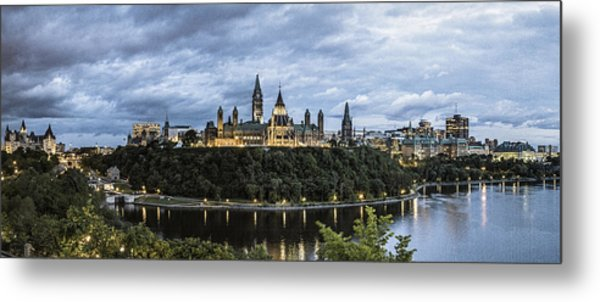 Parliament Hill At Night Metal Print