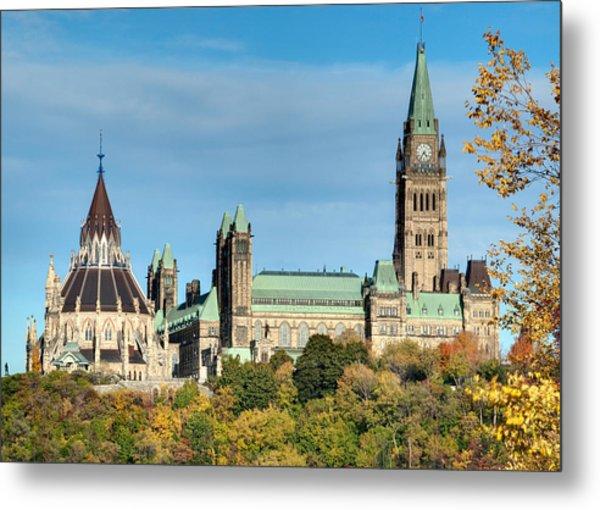 Parliament Hill In Autumn Metal Print