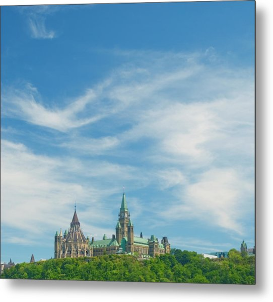 Parliament On The Hill, Ottawa Metal Print