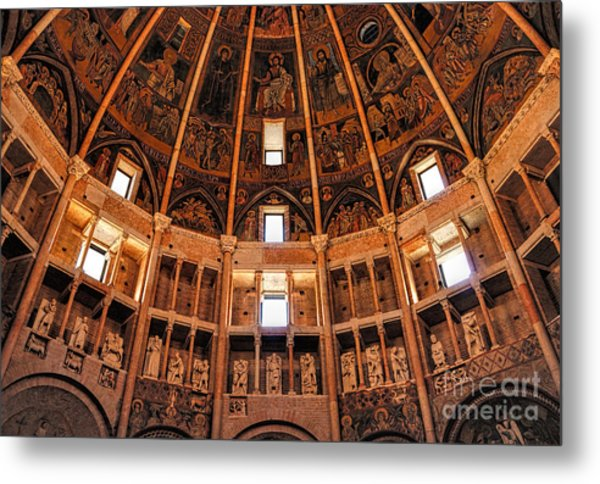 Metal Print featuring the photograph Parma Baptistery by Nigel Fletcher-Jones