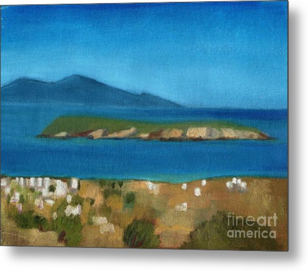 Paros Plain Air Metal Print by Kostas Koutsoukanidis