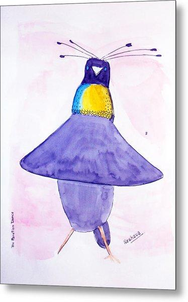 Parotia Dancing - Bird Of Paradise Metal Print
