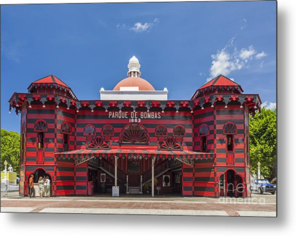 Parque De Bombas Fire Station In Ponce Puerto Rico Metal Print