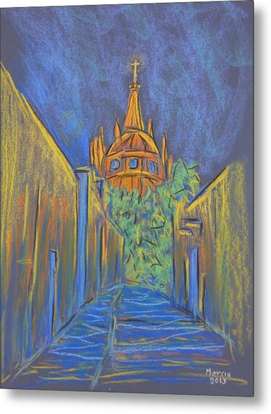 Parroquia From The Back Metal Print by Marcia Meade