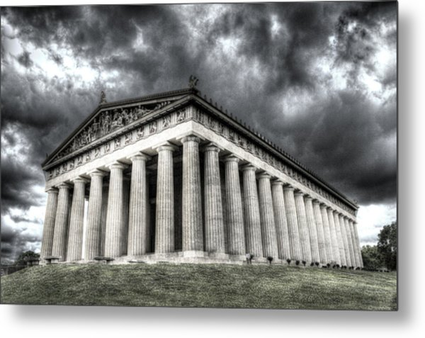 Parthenon Of Nashville Metal Print by Honour Hall