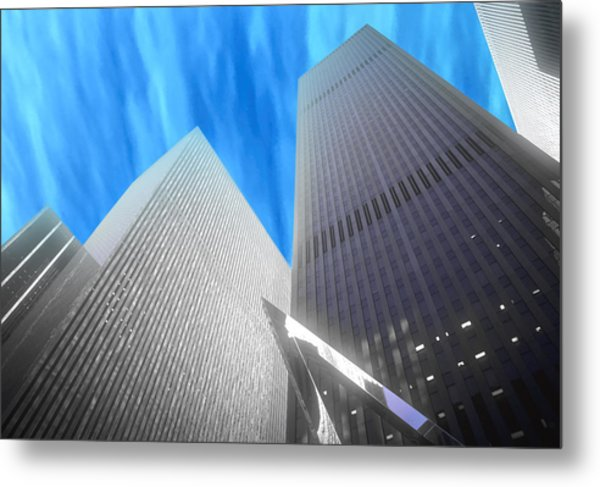 Partly Cloudy Day In New York Metal Print