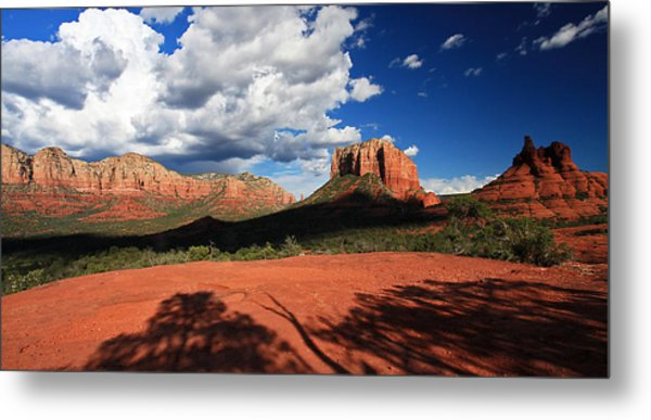 Partly Cloudy With A Chance Of Scenery Metal Print