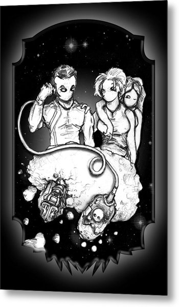 Party At The Phaedrus 5 Galleria - Illustration Metal Print by Matt Edginton