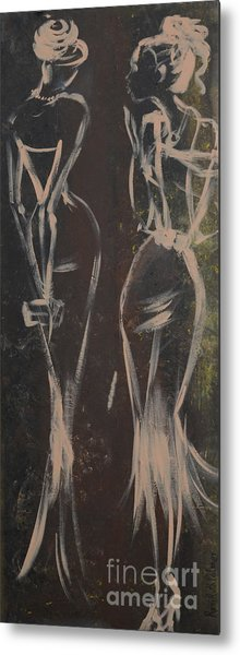 Party Ladies Metal Print by Roni Ruth Palmer