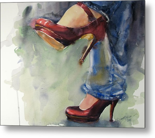 Party Shoes Metal Print