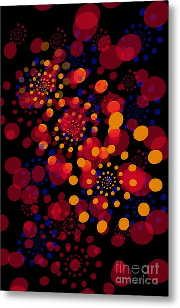 Party Time Abstract Painting Metal Print