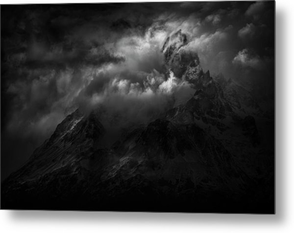 Passing Storm Over The Paine Massif Metal Print