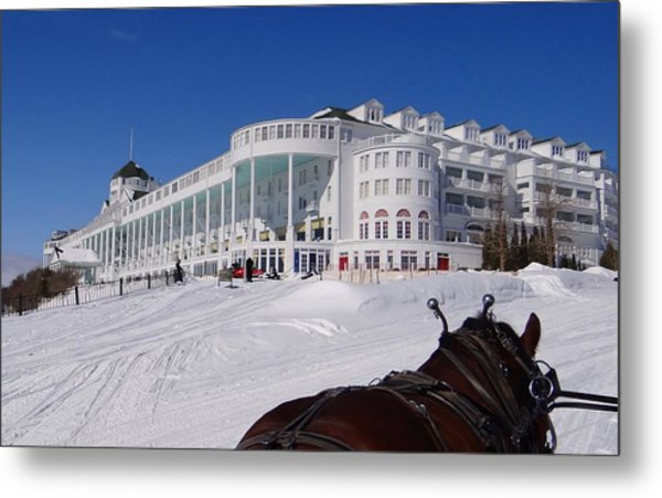Passing The Grand Hotel Metal Print